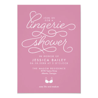 Lingerie Shower Invitation with Elegant Script