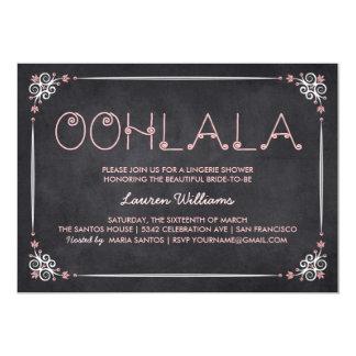 Lingerie Shower Invitations Chalkboard & Pink