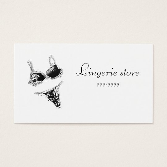 Lingerie store business card