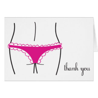 Lingerie Thank You Card