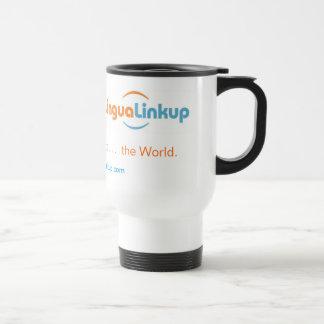Lingua Linkup to go coffee mug