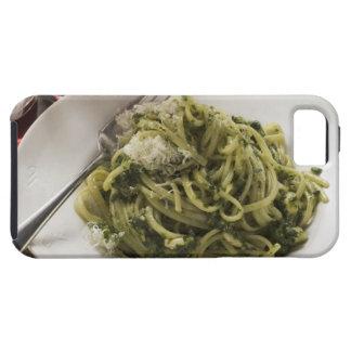 Linguine con el pesto y el parmesano, vino rojo iPhone 5 fundas