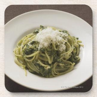 Linguine with pesto and Parmesan Beverage Coaster