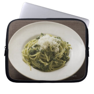 Linguine with pesto and Parmesan Laptop Sleeve