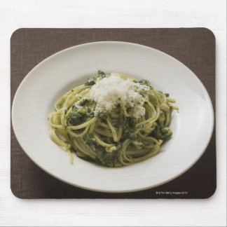 Linguine with pesto and Parmesan Mouse Pad