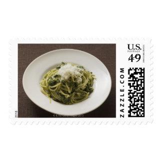 Linguine with pesto and Parmesan Postage