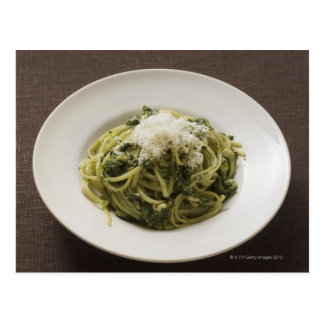 Linguine with pesto and Parmesan Postcard