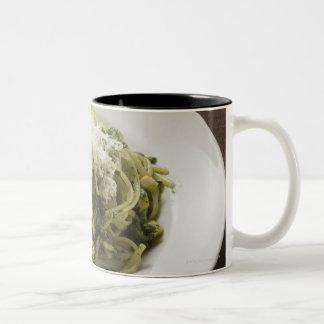 Linguine with pesto and Parmesan Two-Tone Coffee Mug