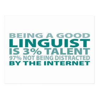 Linguist 3% Talent Postcard
