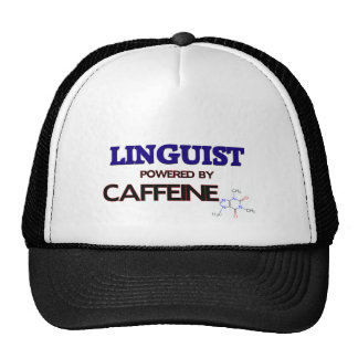 Linguist Powered by caffeine Mesh Hats