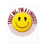 Linguist Trust Smiley Postcard