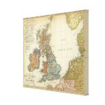 Linguistic map of British Isles Canvas Print