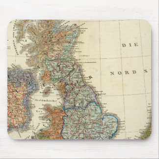 Linguistic map of British Isles Mouse Pad