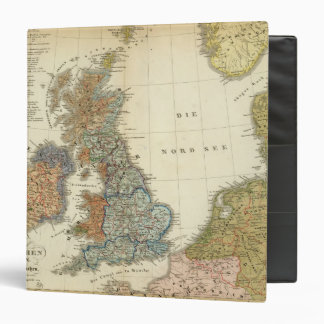 Linguistic map of British Isles Vinyl Binder