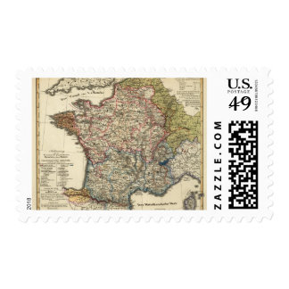 Linguistic map of France Postage Stamp
