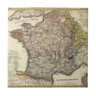 Linguistic map of France Tile