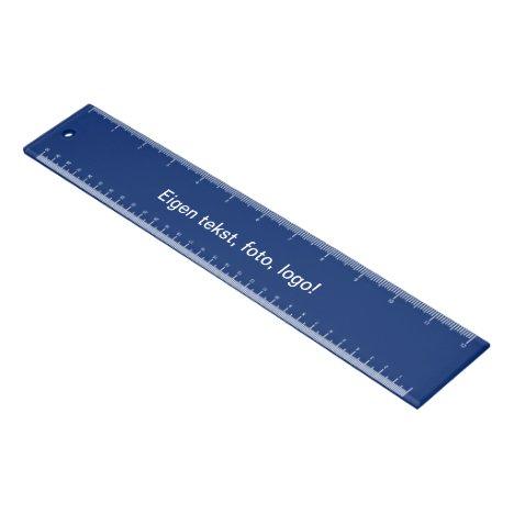 Liniaal Acryl 30 cm uni Blauw Ruler