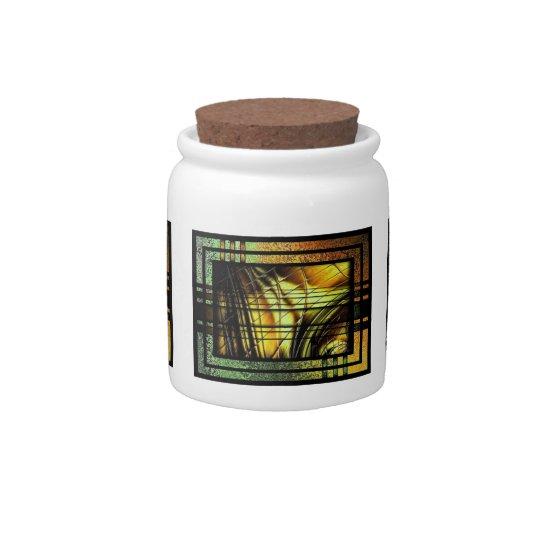 Linien In Honiggold Candy Jar