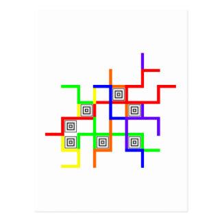 Linien Quadrate lines squares Postcard