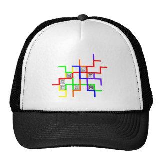 Linien Quadrate lines squares Trucker Hat