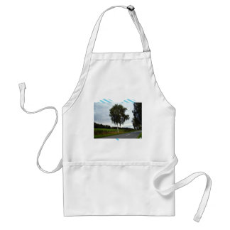 Lining of tree along the road adult apron
