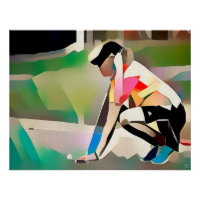 Lining Up A Putt - Golf Art Canvas Print