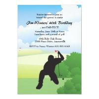 Lining Up the Golf Shot Invitation