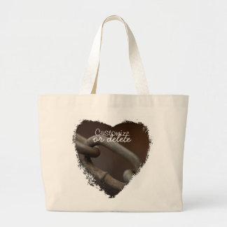 Link in the Chain; Customizable Large Tote Bag