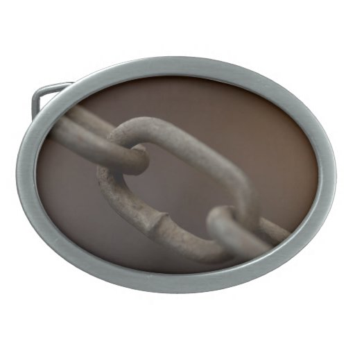 Link in the Chain Oval Belt Buckle