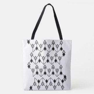 Link of Diamonds Black Tote Bag