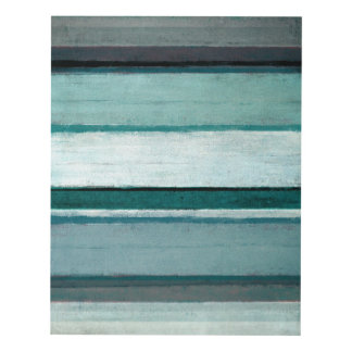 'Link' Teal and Grey Abstract Art