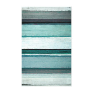 'Link' Teal and Grey Abstract Art Canvas Print