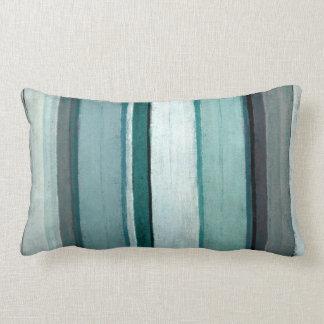 'Link' Teal and Grey Abstract Art Lumbar Pillow
