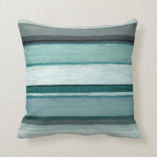 'Link' Teal and Grey Abstract Art Throw Pillows