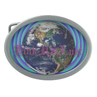 Link-USA net Logo Belt Buckles