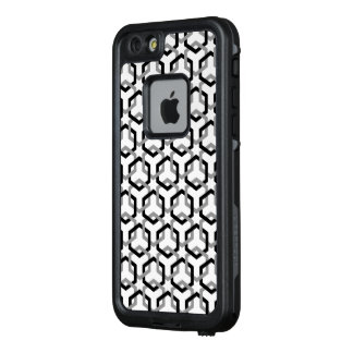 Linked Black and Gray Hexes LifeProof FRĒ iPhone 6/6s Case