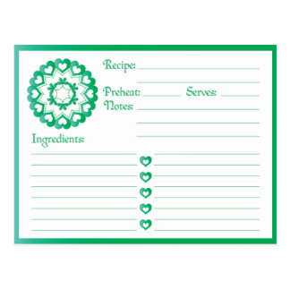 Linked by Love Green Recipe Card