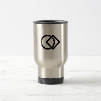 Linked circle and square travel mug