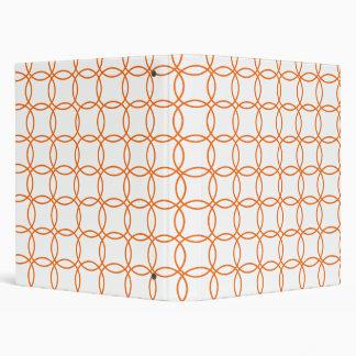 Linked circles in Orange Binder
