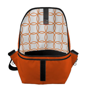Linked circles in Orange Courier Bag