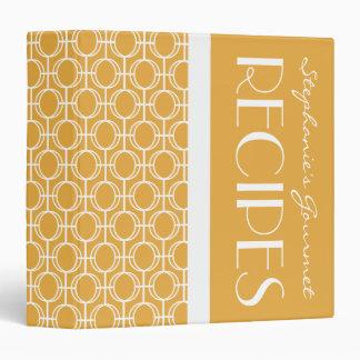 Linked Eternity Rings Pattern Recipe - Gold Tone Vinyl Binder