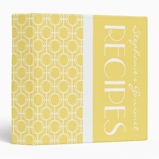 Linked Eternity Rings Pattern Recipe - Lemon Vinyl Binder