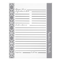 Linked Eternity Rings Recipe Inserts - Gray Flyer