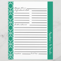 Linked Eternity Rings Recipe Inserts - Teal