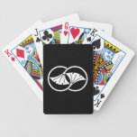 Linked ginkgo leaf circles bicycle playing cards