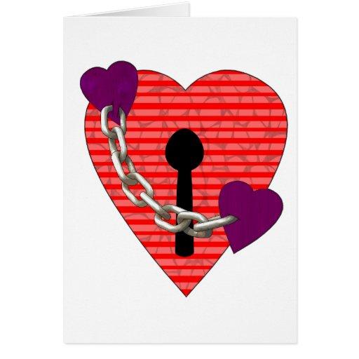linked harts greeting card