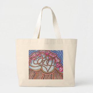 Linked Hearts Large Tote Bag