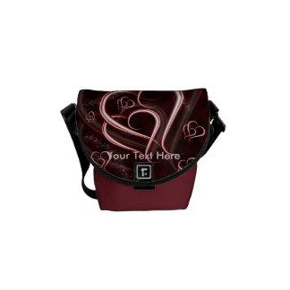 Linked Hearts Messenger Bag