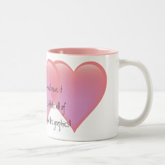 Linked Hearts Pink Mug - customize it!