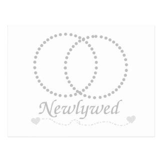 Linked Rings Newlywed Postcard